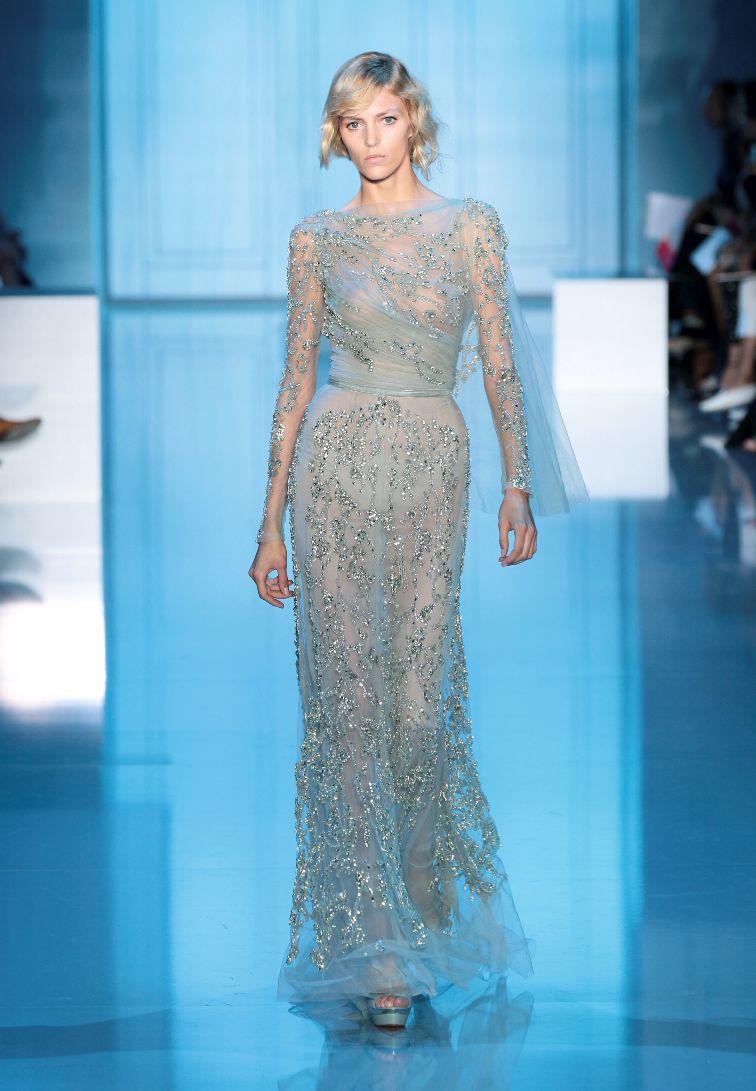 A Celestial Dream At The Elie Saab Haute Couture A W 2011 2012 Show Les Blogs